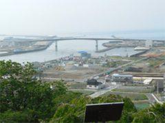 2017年6月 日和山から海岸線を展望