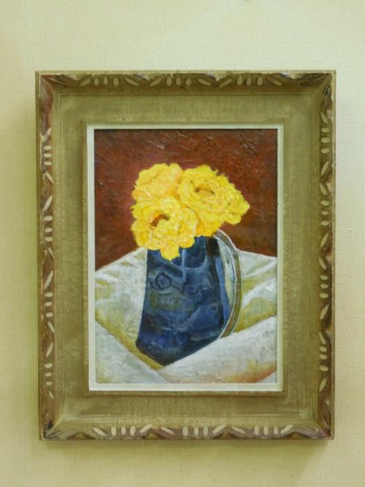 黄色の造花