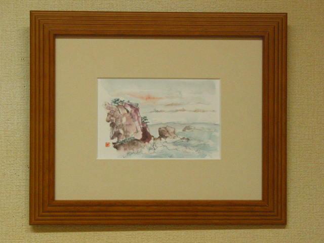 海辺の風景(ハガキ絵)